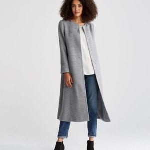 New Eileen Fisher Suri Alpaca Coat in Grey (XS)
